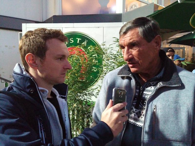 Cornel Bauer im Interview mit Lothar Buchmann. Foto: Cedric Colin