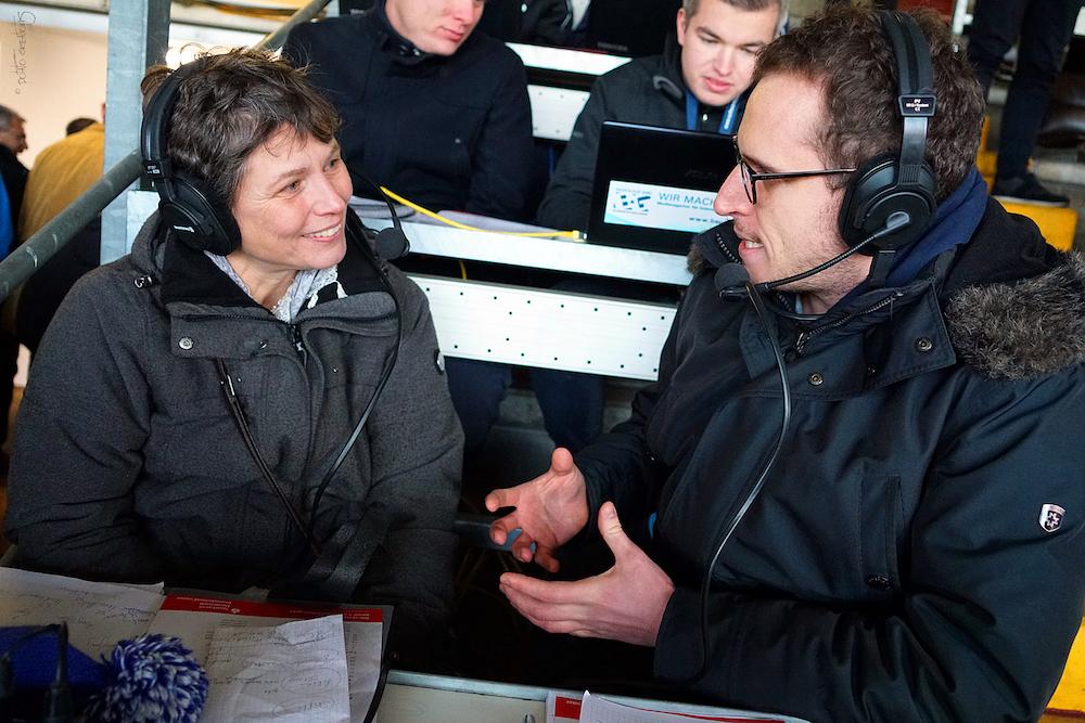 SV 98 Fanradio-Kommentator im Gespräch mit Marion Zepp vom Darmstädter Projekt ZwischenRäume